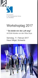 Workshoptag Eddi Hüneke Wise Guys 2017
